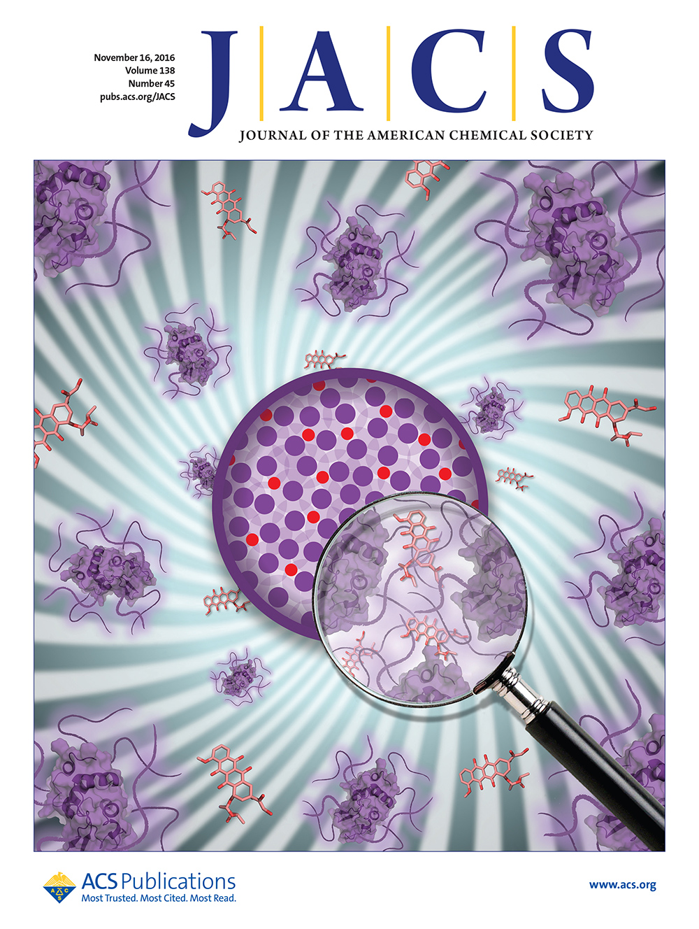 Wichlab Nanoparticle JACS protein drug delivery cover art