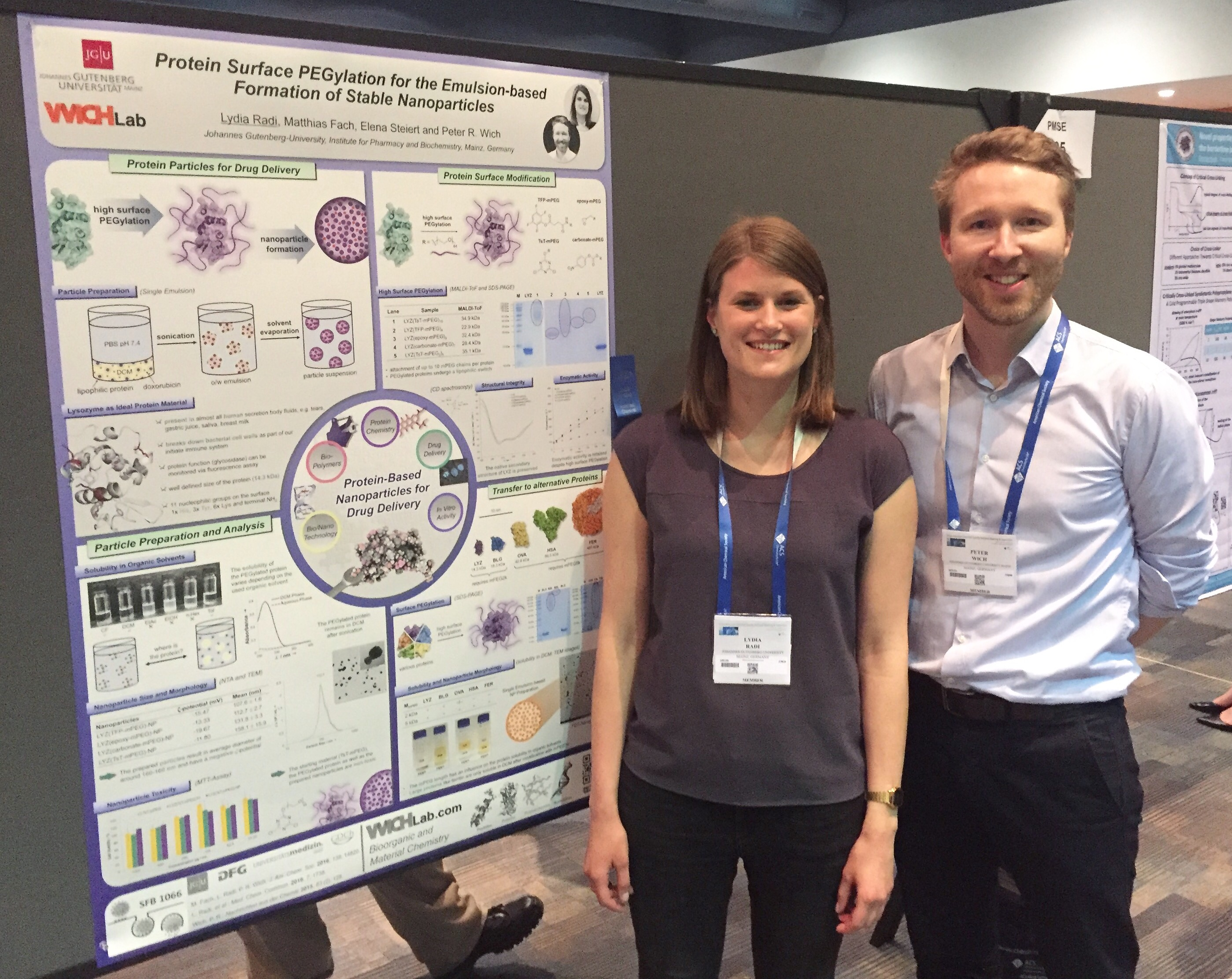 Lydia poster ACSSanFran chemistry nanoparticles acspmse ACS conference