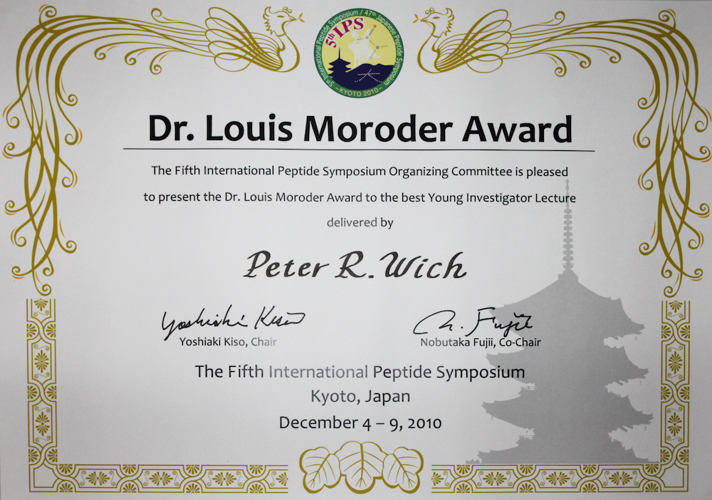 Peter Wich Award 5thIPS Louis Moroder